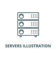servers line icon linear vector image vector image