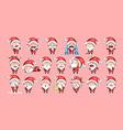 set kit collection sticker emoji emoticon emotion vector image vector image