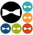 simple bow tie icon vector image vector image
