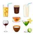 soda with ice in glass take away coffee fresh vector image vector image