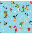 stockings birds seamless 380 vector image vector image