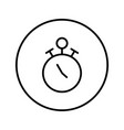 stopwatch icon editable thin line vector image