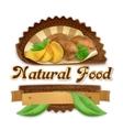 Tasty potatoes label design vector image vector image