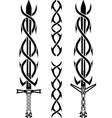 tattoo swords vector image vector image