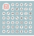 Tools and Travel Icon set on blue paper vector image vector image