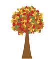 Tree in autumn vector image vector image