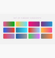 vibrant set of colorful gradients vector image
