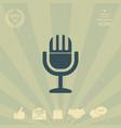 vintage microphone symbol icon vector image vector image