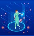 virus attacks respiratory tract pandemic vector image vector image