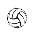 volleyball abstract symbol vector image vector image