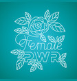 women day label with roses pattern vector image