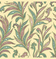 floral seamless pattern with leaves ornamental vector image