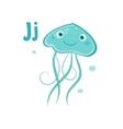 Jellyfish Funny Alphabet Animal vector image