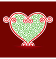 Seamless design make a heart background vector image