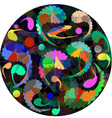 multicolor scrolls pattern with a paisley ornament vector image