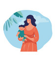 a young mother holds bain her arms on the vector image vector image