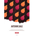 autumn background with leaves for shopping sale vector image
