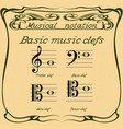 basic music clefs vector image vector image