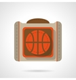 Basketball bag flat color design icon vector image