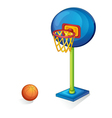 Basketball ring and ball vector image