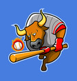 batter bulls vector image