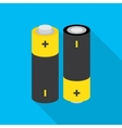 battery icon with shadow vector image vector image