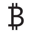 bitcoin icon grey color vector image