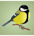 Black tit vector image vector image
