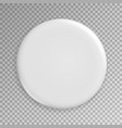 blank white badge realistic vector image vector image