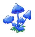 blue mushroom vector image