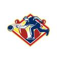 Bowler Bowling Ball Pins Side Retro vector image vector image
