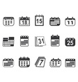 calendar icons set vector image