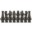 chess cartoon figures black vector image vector image