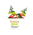 Christmas geometric abstract sale promo banner vector image vector image