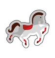 circus horse isolated icon vector image
