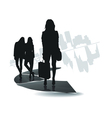 city people icon vector image vector image