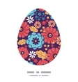 colorful bouquet flowers Easter egg vector image vector image
