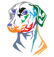 colorful decorative portrait of dog german vector image vector image