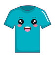 cotton casual tshirt kawaii character vector image vector image