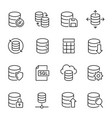 database information storage linear icons vector image