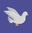 dove flat icon vector image vector image