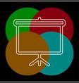 education board icon school chalk board vector image vector image