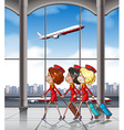 Flight attendants vector image