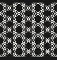 geometric hexagon seamless monochrome pattern vector image vector image