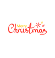 hand drawn lettering merry christmas words vector image vector image