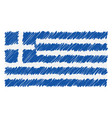 hand drawn national flag of greece isolated on a vector image