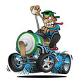 hot rod battery powered electric car cartoon vector image vector image