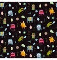 Imaginary animals and monsters seamless pattern vector image vector image
