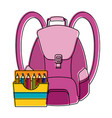 isolated bag design vector image