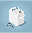 isometric stack paper vector image vector image
